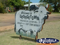 Georgetown Town Sign . . . CLICK TO ENLARGE