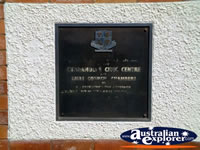 Cunnamulla Civic Centre Plaque . . . CLICK TO ENLARGE