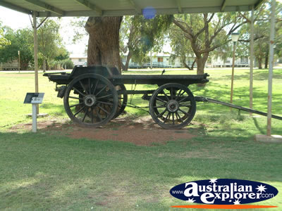 Cunnamulla Old Wagon in Park . . . CLICK TO VIEW ALL CUNNAMULLA POSTCARDS