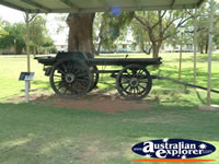 Cunnamulla Old Wagon in Park . . . CLICK TO ENLARGE