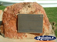 Cunnamulla War Memorial Plaque . . . CLICK TO ENLARGE