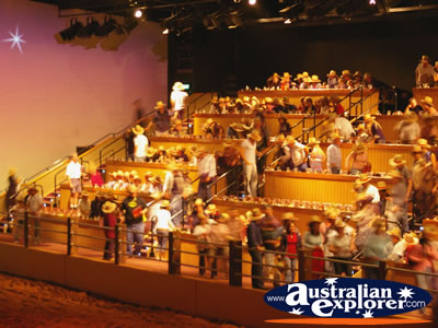 Australian Outback Spectacular Audience Finding Their Seats Photograph (Queensland)