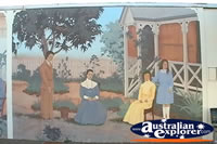 Bowen Wall Mural Colonial Scene . . . CLICK TO ENLARGE