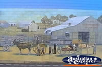 Bowen Wall Mural Horse and Cart Scene . . . CLICK TO ENLARGE