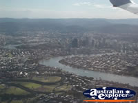 View of Brisbane from the Air . . . CLICK TO ENLARGE