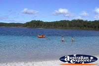 Fraser Island Swimmers In Lake Mckenzie . . . CLICK TO ENLARGE