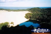 Fraser Island View Over Lake Wabby . . . CLICK TO ENLARGE