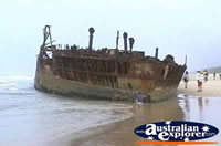 Fraser Island Maheno Wreck in Water . . . CLICK TO ENLARGE