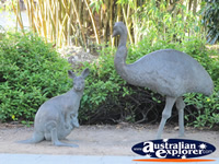 Wallaby and Emu Statues . . . CLICK TO ENLARGE