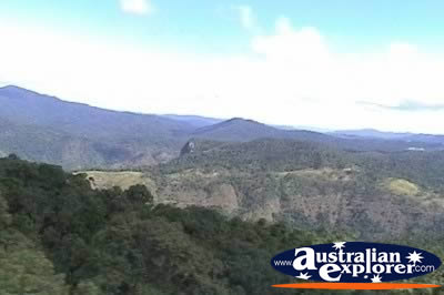 View from Kuranda Skyrail . . . CLICK TO VIEW ALL KURANDA (SKYRAIL) POSTCARDS