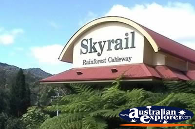 Kuranda Skyrail Entrance . . . CLICK TO VIEW ALL KURANDA SCENIC RAILWAY POSTCARDS