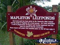 Mapleton Lilyponds Sign . . . CLICK TO ENLARGE