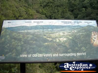 Mapleton Obi Obi Valley Lookout Sign . . . CLICK TO ENLARGE