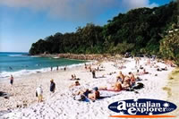 Noosa Main Beach with People . . . CLICK TO ENLARGE