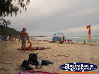 North Stradbroke Island Beach with People . . . CLICK TO ENLARGE