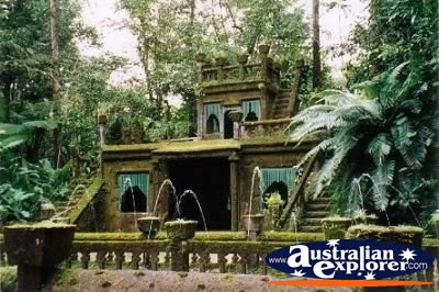 Castle in Paronella Park . . . CLICK TO VIEW ALL PARONELLA PARK POSTCARDS