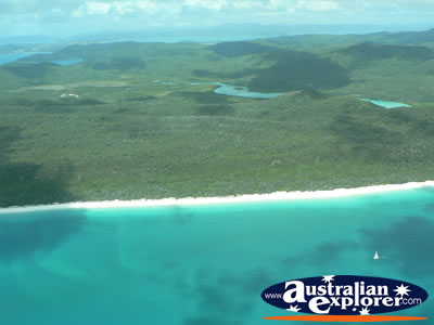 Island from Seaplane . . . CLICK TO VIEW ALL WHITSUNDAYS (HEART REEF) POSTCARDS