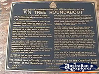 Tamborine Mountain Fig Tree Plaque . . . CLICK TO ENLARGE
