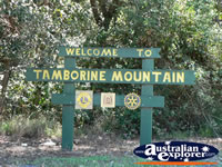 Tamborine Mountain Sign . . . CLICK TO ENLARGE