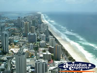 View of Gold Coast Beaches . . . CLICK TO ENLARGE