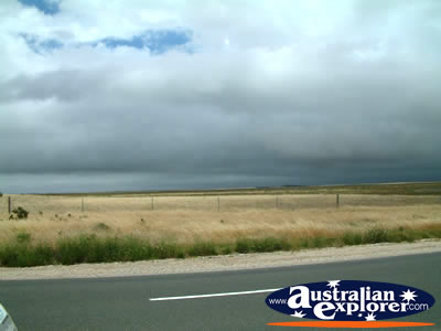 Storm Between Strathalbyn And Tailem Bend . . . CLICK TO VIEW ALL STRATHALBYN POSTCARDS