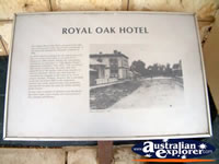 Penola Royal Oak Hotel Plaque . . . CLICK TO ENLARGE