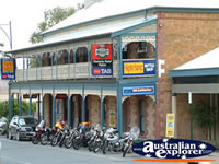 Mannum Bikes Outside Hotel . . . CLICK TO ENLARGE