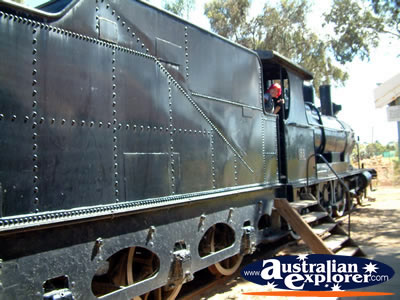 Loxton Historical Village Train . . . CLICK TO VIEW ALL LOXTON POSTCARDS