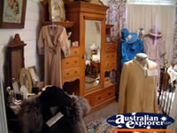 Loxton Historical Village Bedroom With Clothes . . . CLICK TO ENLARGE