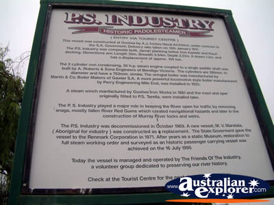 Renmark Info Plaques . . . VIEW ALL RENMARK PHOTOGRAPHS