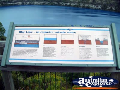 Mount Gambier Blue Lake Information Plaque . . . VIEW ALL MOUNT GAMBIER PHOTOGRAPHS