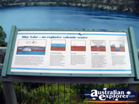 Mount Gambier Blue Lake Information Plaque . . . CLICK TO ENLARGE
