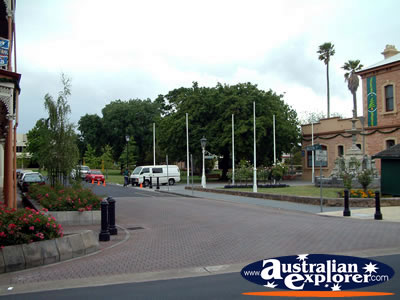 Mount Gambier Street Corner . . . CLICK TO VIEW ALL MOUNT GAMBIER POSTCARDS