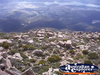 View from Mount Wellington . . . CLICK TO ENLARGE