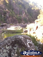 View of Cataract Gorge in Launceston . . . CLICK TO ENLARGE