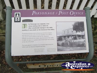 Parsonage Sign . . . CLICK TO ENLARGE