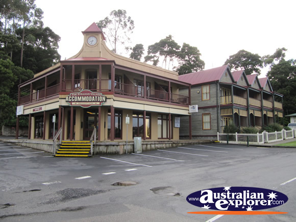 Outside Strahan Village Accommodation Photograph Photo Pictures Of