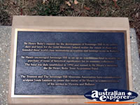 Ballarat Gold Museum Henry Bolte Plaque . . . CLICK TO ENLARGE