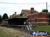 Korumburra Railway Station and Track . . . CLICK TO ENLARGE