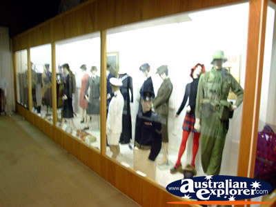 Benalla Visitors Centre Museum Mannequins . . . CLICK TO VIEW ALL BENALLA POSTCARDS