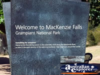 McKenzie Falls Grampians Welcome Sign . . . CLICK TO ENLARGE