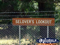 Selovers Lookout Sign Between Marysville & Healesville . . . CLICK TO ENLARGE
