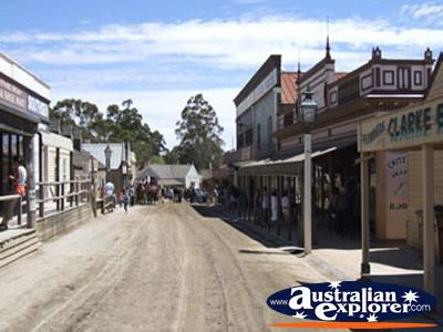 Main Street Of Ballarat Sovereign Hill Photograph Main