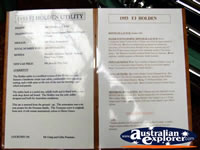 Information Manual at Echuca Holden Museum  . . . CLICK TO ENLARGE