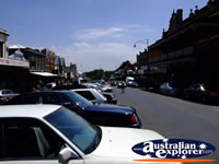 Closeup of cars parked on a Daylesford Street . . . CLICK TO ENLARGE