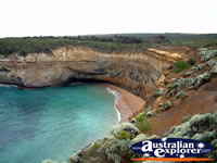 View of Great Ocean Road Loch Ard Gorge . . . CLICK TO ENLARGE