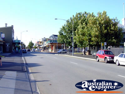 View Down Mornington Street . . . CLICK TO VIEW ALL MORNINGTON POSTCARDS