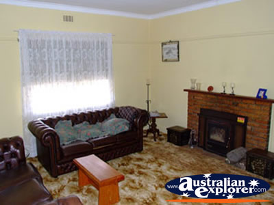 Cathcart Miners Cottage Living Room . . . CLICK TO VIEW ALL ARARAT POSTCARDS
