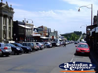 Cars parked on a Daylesford Street . . . CLICK TO ENLARGE