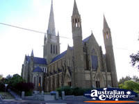 Bendigo Cathedral from Street . . . CLICK TO ENLARGE
